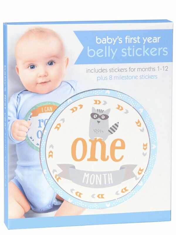 Boy Baby's First Year Belly Stickers For Months1-12 Plus 8 Milestone Stickers