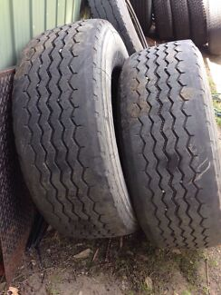 Super single truck tyres run outs Newcastle 2300 Newcastle Area Preview