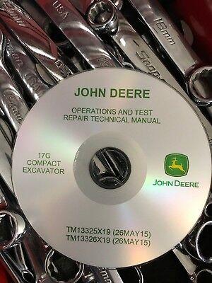 John Deere 17g G Compact Excavator Service Repair Operation Test Manual Cd