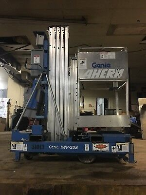 2006 Genie Iwp20s Man Lift 20 Deck Hgt26 Work Hgt 12 Volt Push Around