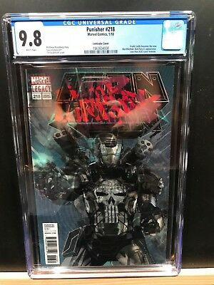 MARVEL 2017 MARVEL PUNISHER #218 VARIANT! FIRST APP OF PUNISHER AS WAR MACHINE!!
