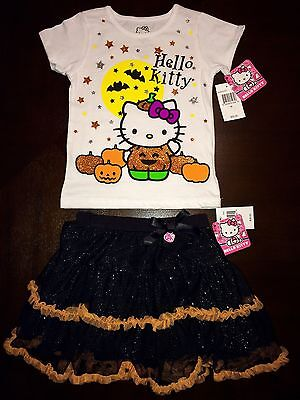 2pc Halloween Outfit Set. 4T. Glitter Tutu. NEW $46 (Hello Kitty Halloween-outfit)