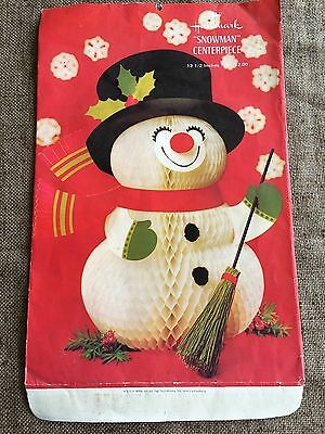 Vintage Empty ENVELOPE ONLY for Snowman Honeycomb Party Centerpiece Decoration