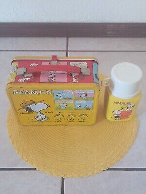 1965 Peanuts Vintage Lunchbox ~ Very Nice ~ Used Condition ~Unrestored~