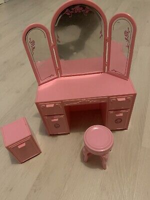 Vintage Barbie Living Pretty Furniture Vanity Unit & Night Table (Mattel 1987)