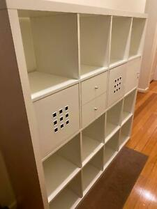 Ikea Kallax shelving unit 4x4 shelves