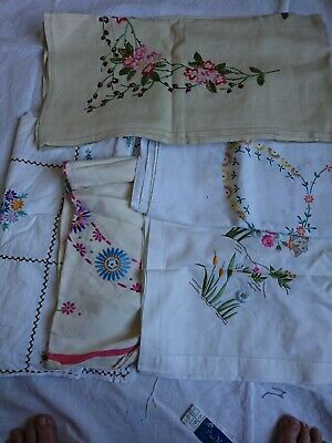 in very good cond. hand embroidery,needlework,hand made of the best cotton fabric and yarn Tablecloth 60 x 55 vintage,decorative