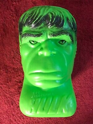 Vintage Marvel Incredible Hulk Blow Mold Halloween Candy Bucket Pail - 1979 Rare