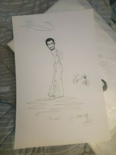 THE WHO AUTOGRAPHED SIGNED ARTWORK POSTER John Entwistle Pete Townshend RARE