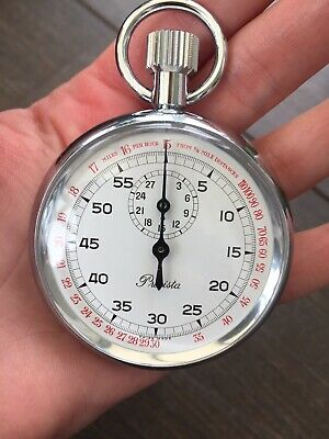 Very Rare PRECISTA stopwatch Railway Speed SWISS MADE Immaculate Collectible