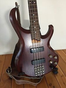 Ibanez BTB400 electric BASS GUITAR + leather strap + guitar stand Broadbeach Waters Gold Coast City Preview