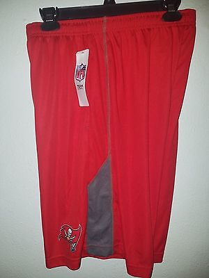 Mens Nfl Team Apparel Tampa Bay Buccaneers  Dri Fit  Jersey Shorts Tx3 Cool Nwt