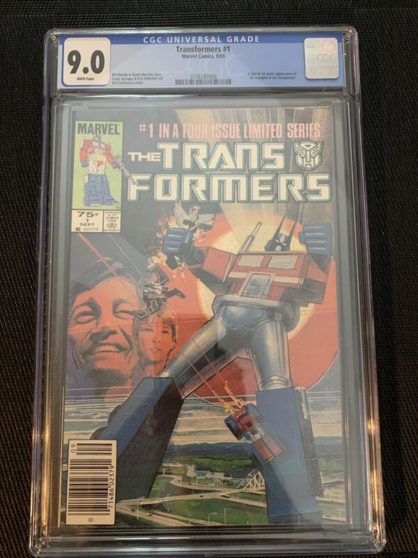 transformers 1 cgc 9.0 Newsstand (1st Optimus, Autobots & Decepticons)