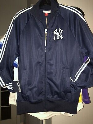 NWT New York Yankees $95!! Track Jacket Size Small Mitchell & Ness Vintage