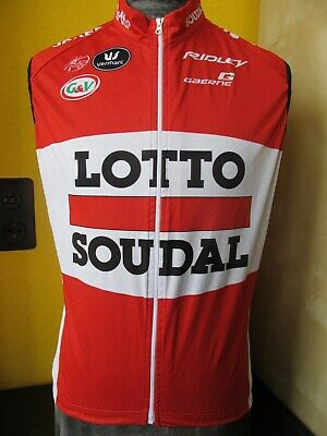 LOTTO SOUDAL TEAM ISSUE WORN BY Kris Boeckmans Cycling JERSEY  Sz M
