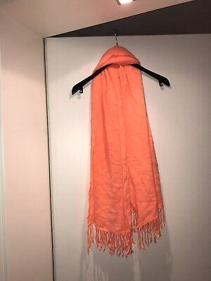 Neu Sehr Schöner Damen XXL Strick Schal Tuch Fransen Koralle Neon Orange H&m gebraucht kaufen  Langenzenn
