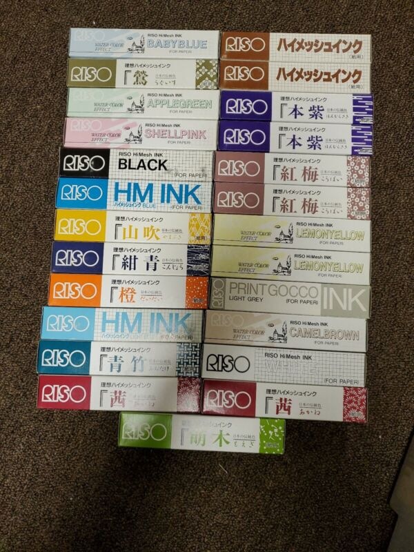 NEW Riso Print Gocco HiMesh Ink 25 Tubes Multiple Colors See Photos