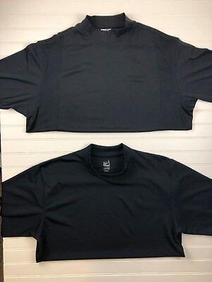 Lot of 2 Nike Team Adidas men's Large Short Sleeve Shirt  Black Athletic (S43)