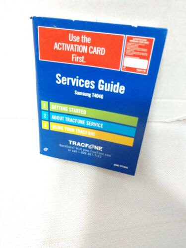 Tracfone Services Guide Owners Manual ONLY for Samsung T404G Instruction Booklet