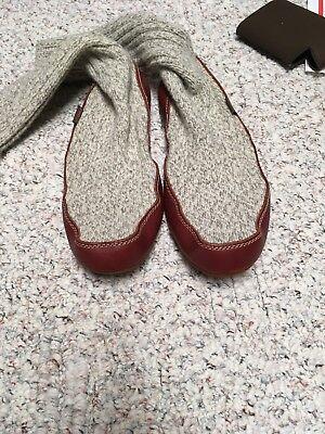Almost NWT Acorn Slipper Socks Grey Ragg Wool Size MEN 9-10...WOMEN 10.5-11.5