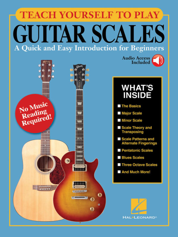 Teach Yourself to Play Guitar Scales for Beginner Lessons Learn Tab Book & Audio