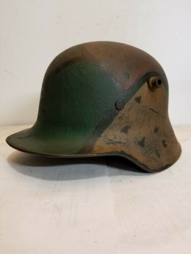 World War I M16 German Aged Camo Painted repro Helmet