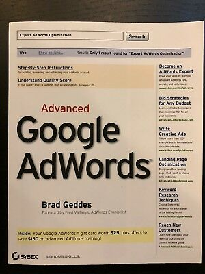 Brad Geddes Advanced Google Adwords   Manual Learning Marketing Sale