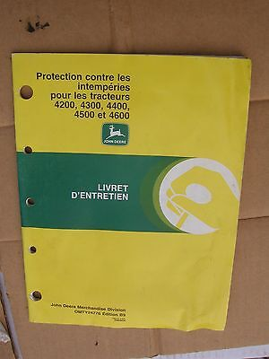 John Deere 4200 4300 4400 Tractor Jd Protection Contre Les Intemperies Omty24776