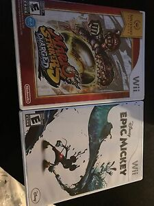 2 Wii Games - 2 for 30
