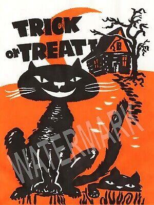 Trick Treat Bag Black Cat Halloween High Quality Metal Fridge Magnet 3x4 9717