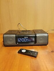iHome (iH9) Black Ipod Speaker Dock Dual Alarm Clock Radio Apple iPod - Tested