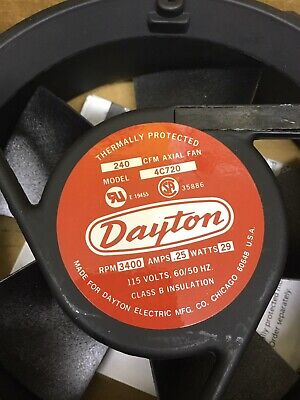 Dayton 4c720 6-34in 240cfm 115v-ac Axial Fan
