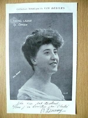Postcards of Edwardian Theatre & Opera stars: RACHEL LAUNAY Pub. by Vin Desiles