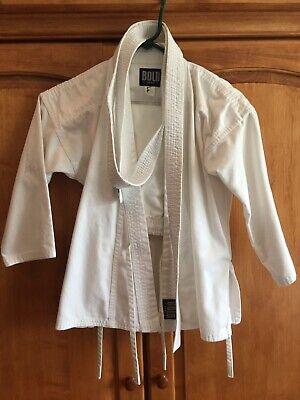 Karate gi uniform Size 1, White, kids. Youth unisex