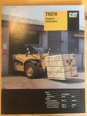 Cat Th210 Brochure Compact Telehandler Caterpillar