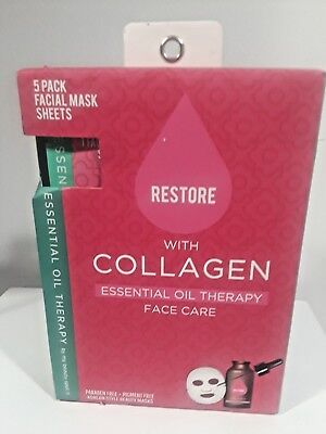 (My Beauty Spot 5 Mask Sheets Pack Restore Essence Collagen Oil Therapy Face Care)