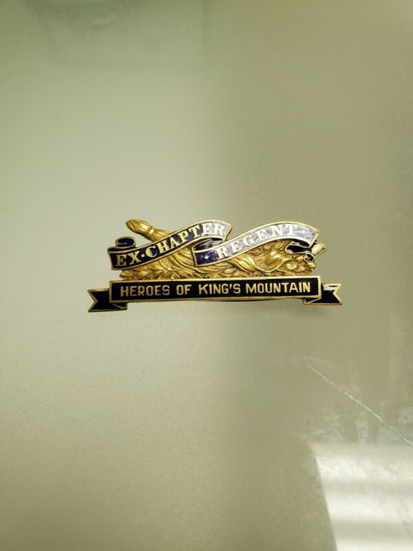 Daughters of the american revolution DAR Ex Chapter Regent 14k Gold