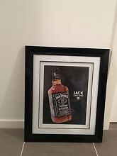 Jack Daniels picture framed + 4 cup holders Macquarie Links Campbelltown Area Preview