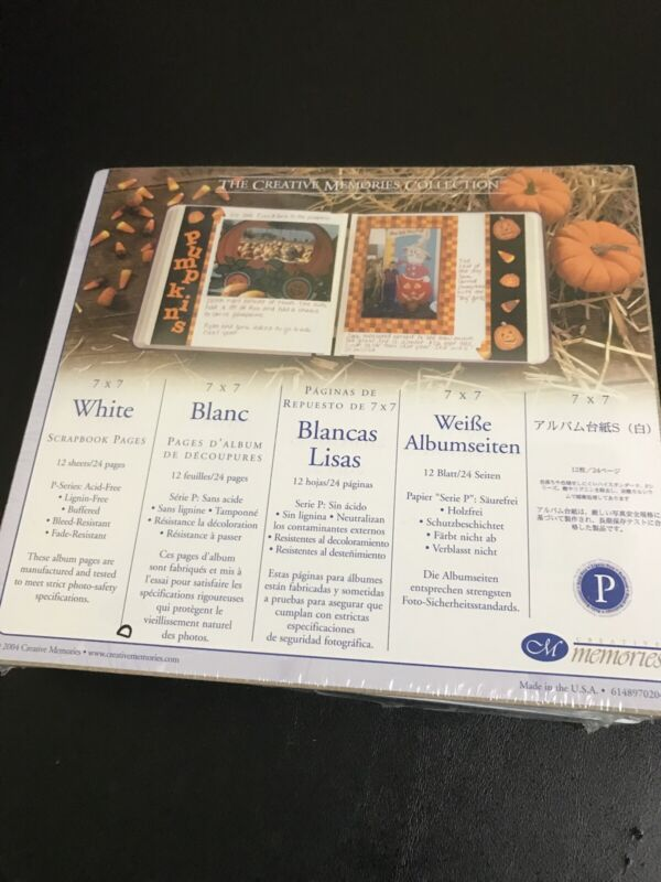 creative memories 7 x 7 white scrapbook pages