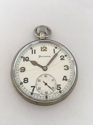 Vintage Helvetia Hand-winding Military Pocket Watch