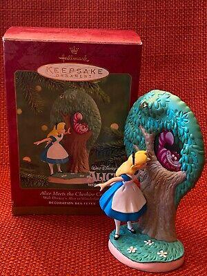 "Hallmark 2000 Alice in Wonderland ""Alice Meets the Cheshire Cat"" ornament"