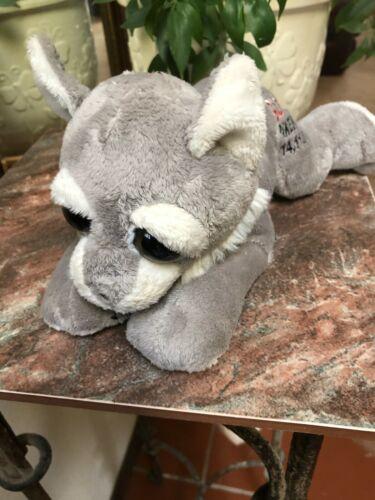 "Gray Wolf Plush Summit Pikes Peak Colorado Petting Zoo 12"" Stuffed Animal Toy"