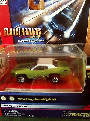 Auto World Xtraction 1971 Plymouth GTX HO Scale Slot Car #5 - NEW IN CLAM SHELL