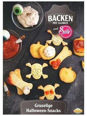 "1 Rezeptkarte  ""Halloween-Snacks"" BACKEN GLOBUS Sally"