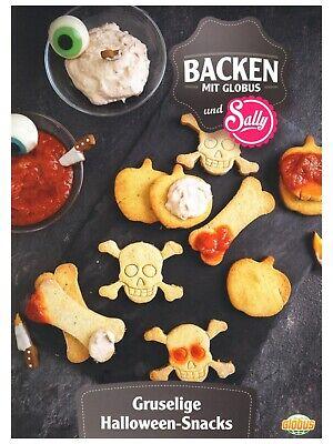 "1 Rezeptkarte  ""Halloween-Snacks"" BACKEN GLOBUS Sally"