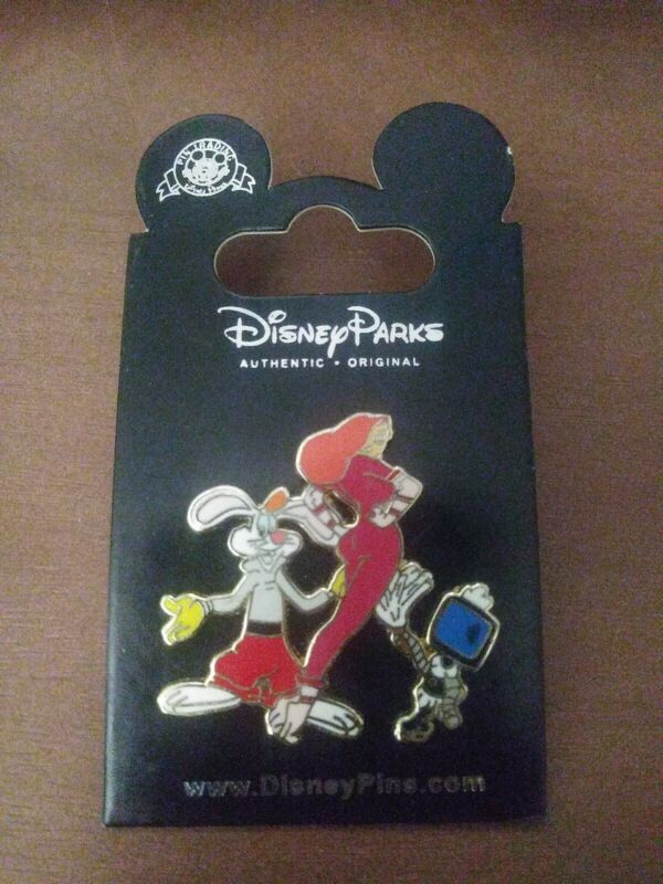 LE Disney Pin✿Jessica Rabbit Space Age Series Jetsons Robot Duster Roger Sexy