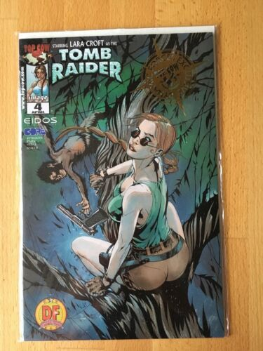 TOMB RAIDER #4 Comic Book Dynamic Forces Exclusive GOLD FOIL Ed LTD 3000 COA