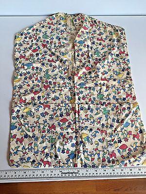 VINTAGE HANDMADE CLOTHES PIN BAG- GNOME & MUSHROOM FABRIC