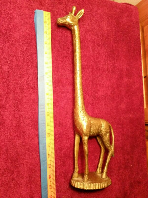 "Vintage Brass 18"" Brass Giraffe"