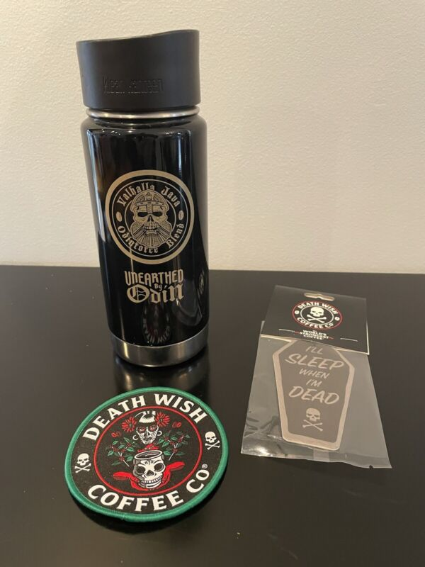 RARE Death Wish Coffee Valhalla Java Unearthed By Odin Travel Mug Very Good